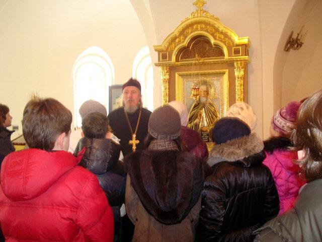 Посещение храма учащимися школы № 1284