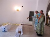 Водружение новых крестов над приделами