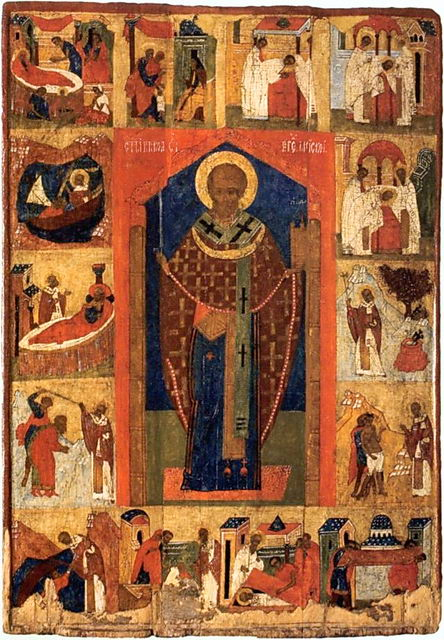 Можайский образ святителя Николая с клеймами жития