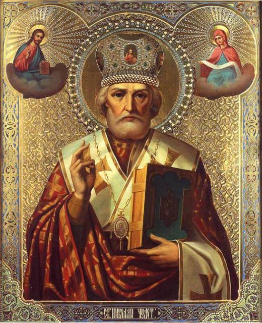 Икона Святителя Николая. Храмовая икона храма Святого Серафима Саровского в Санкт-Петербурге