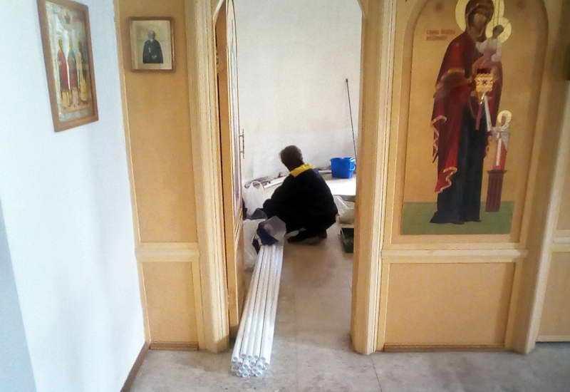 Ремонтные работы в нашем храме