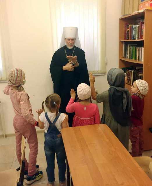 Встреча с учениками Воскресной школы «Знамение»